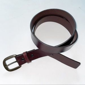 Lands End Brown Leather Belt